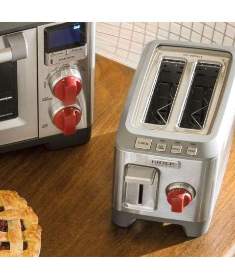 2 Slice Toaster (Red Knob)