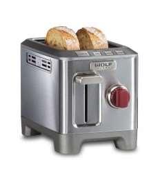 2 Slice Toaster (Red Knob)