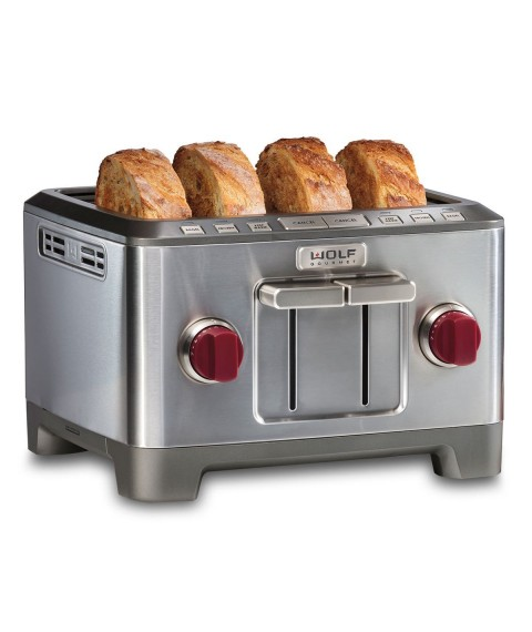 4 Slice Toaster (Red Knob)