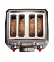 4 Slice Toaster (Red Knob)